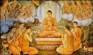 Buddha teaching disciples - buddhanet.net
