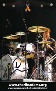 Charlie Adams (Yanni's Drummer) autograph