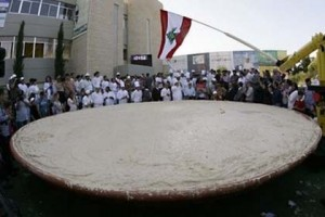 Guinness world record for biggest Hummus plate by Lebanon in May 2010